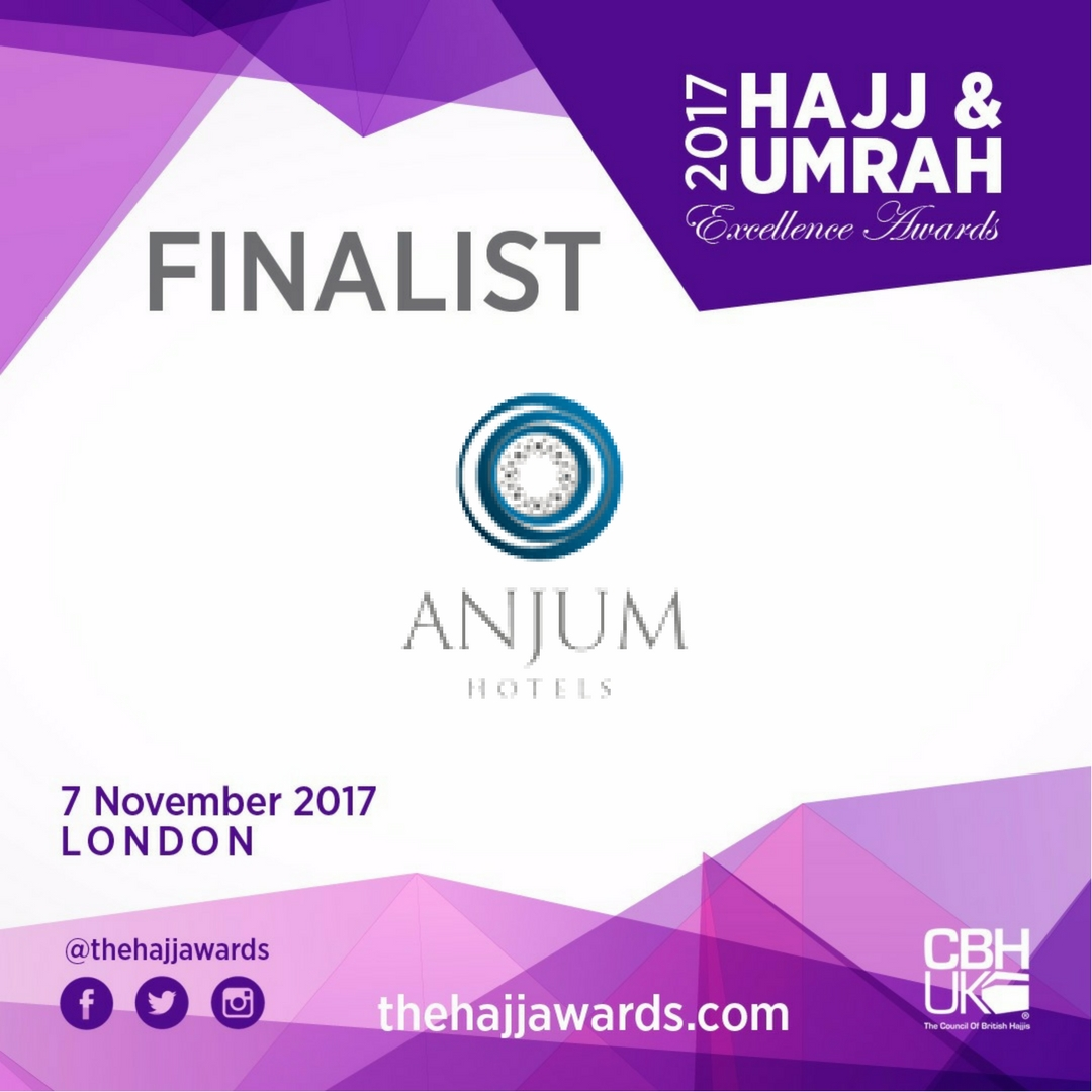 "Anjum Hotel Makkah Shortlisted for the ""Best Hotel: Makkah"" Award"