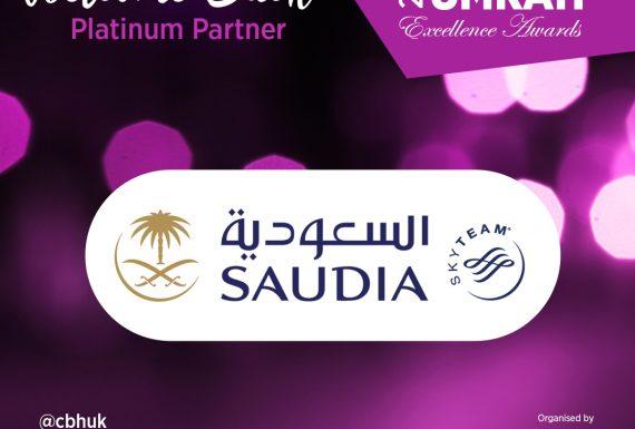 Saudia (Saudi Arabian Airlines) are Platinum Sponsors at the Hajj & Umrah Awards 2018